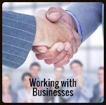 Working with businesses - Copyright: <a href='http://www.123rf.com/profile_wavebreakmediamicro'>wavebreakmediamicro / 123RF Stock Photo</a>